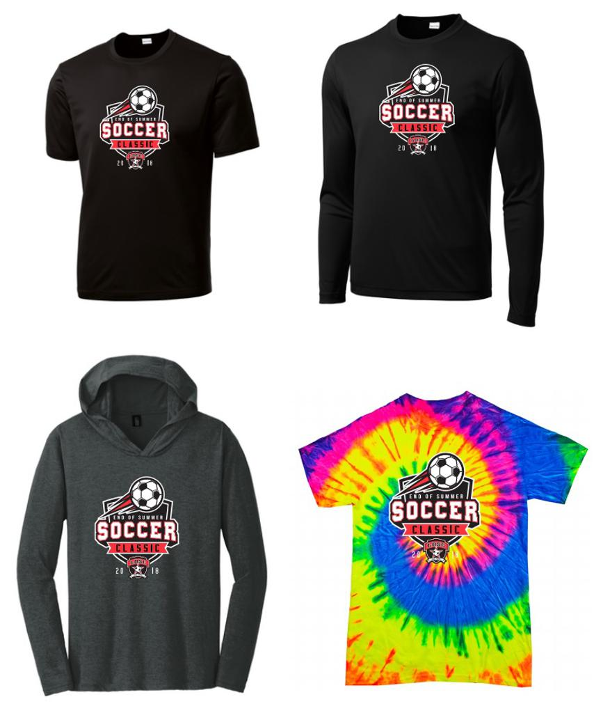 The following apparel will be available for purchase and/or order on site all weekend from