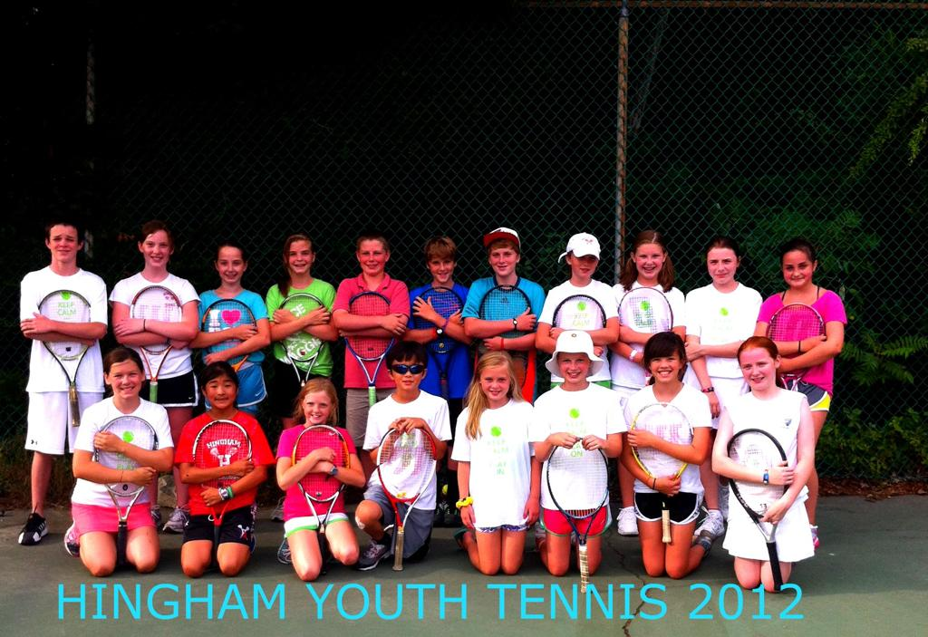 19 of the 88 Hingham Youth Tennis Players
