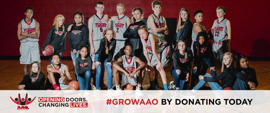 AAO Benton County Campaign #GROWAAO by donating today.  opening doors. changing lives.