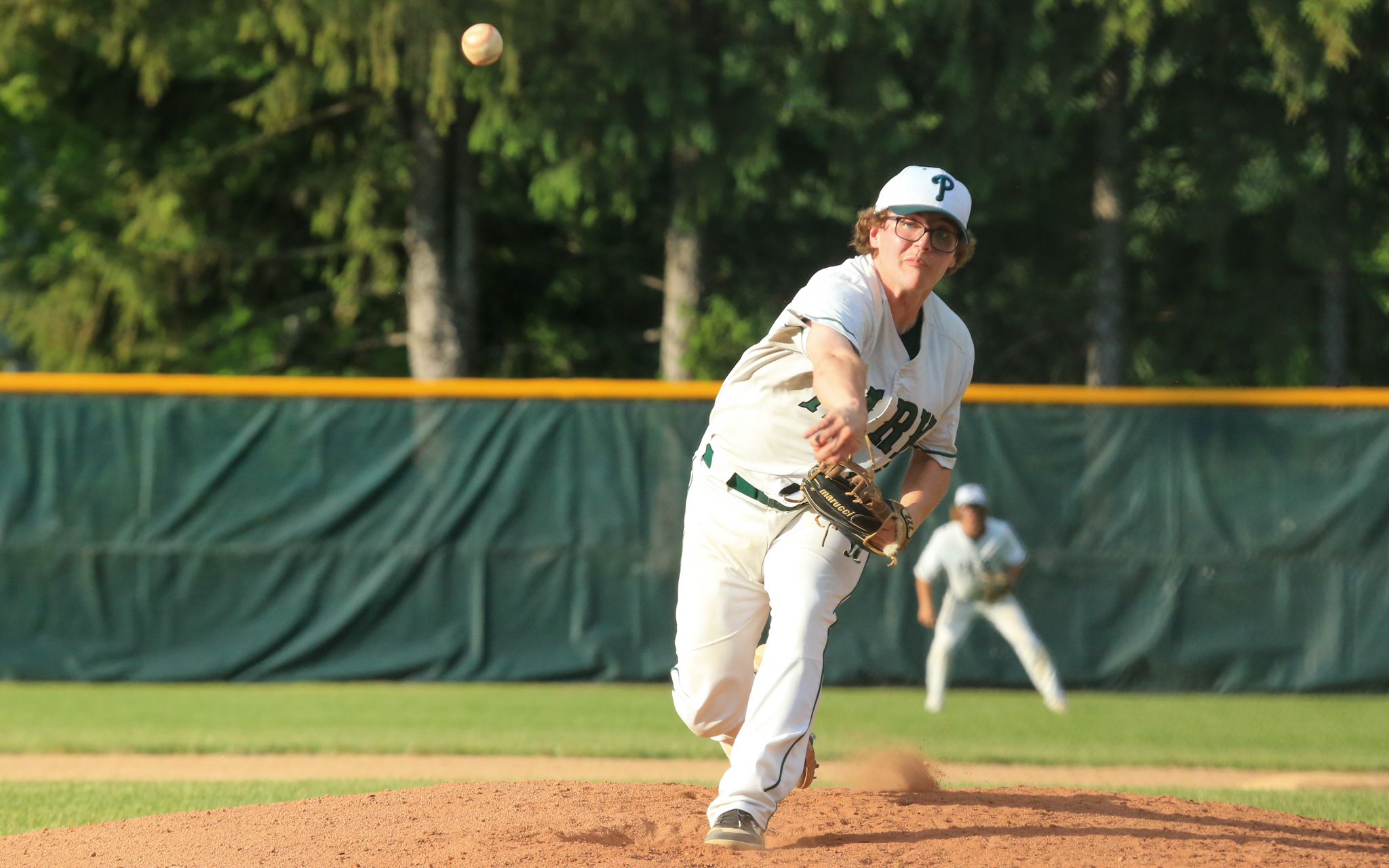 Park of Cottage Grove's Sam Janski struck out five batters and had four RBIs in the second game of the Class 4A, Section 3 championship in Burnsville. The Wolfpack defeated the Wildcats twice, 5-0 and 9-3. Photo by Jeff Lawler, SportsEngine