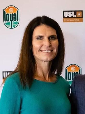 Carrie Taylor, San Diego Loyal SC assistant coach and the first female coach in the USL