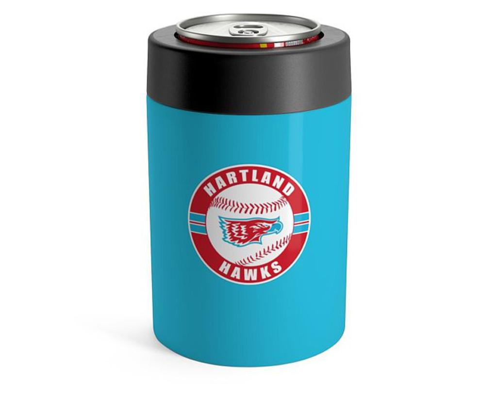 Stainless Steel Can Holder (red or blue)