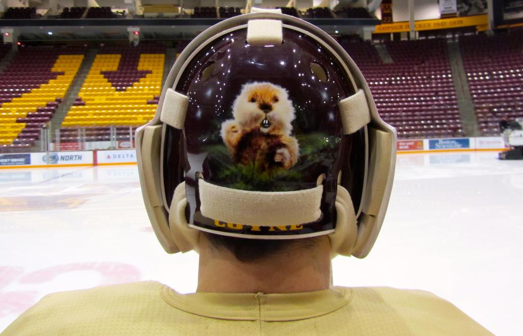 Gophers Goalie Ryan Coyne Shows Off New Goalie Mask