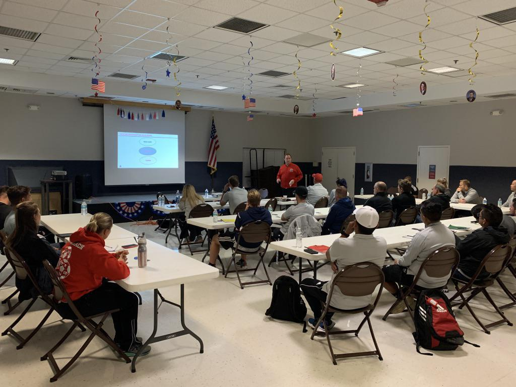 Academy Scout Matt Pearson presents Fire Academy Methodologies to Florida Fire coaches