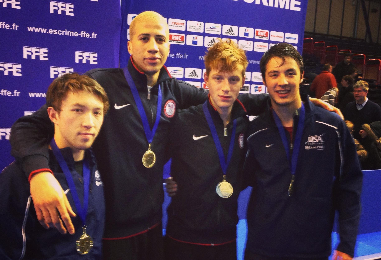 U S Men S Foil Team Wins First Ever World Cup Gold In Paris