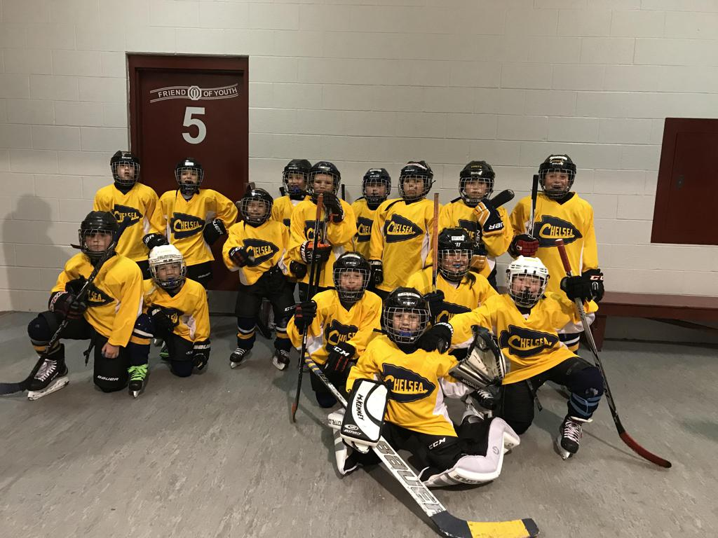 Team photo after their first spring game, 4-21-18