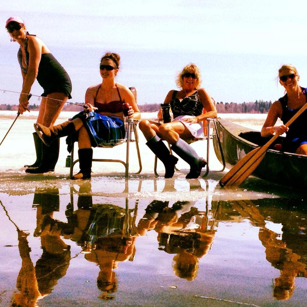 Fish Hook Lake is starting to melt!