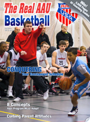 Jummy Fields on the Cover of the AAU Magazine