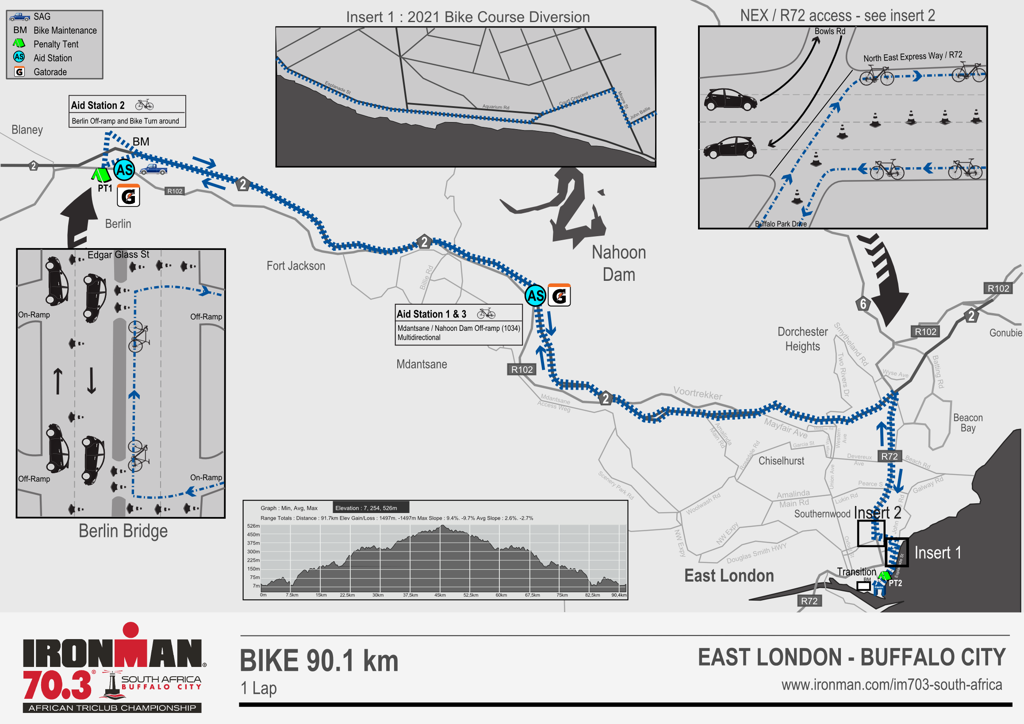 Bike course map IM073 South Africa