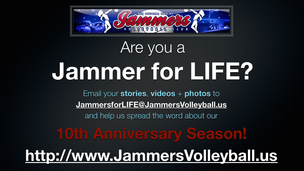 Are you a Jammer for LIFE?
