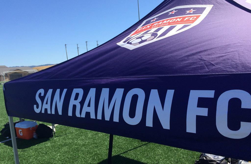 San Ramon FC soccer tent