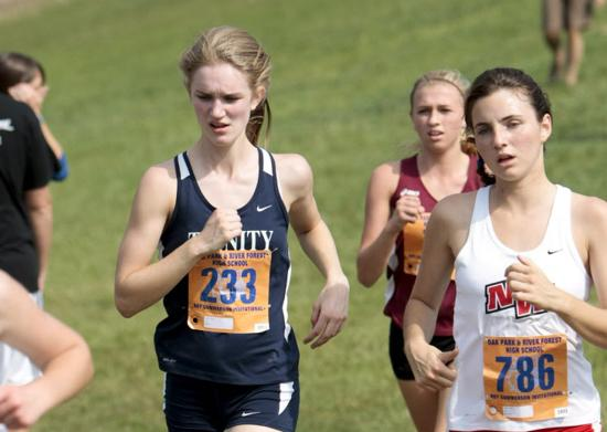 Trinity's Emily Doyle competes in the Roy Gummerson Invitational