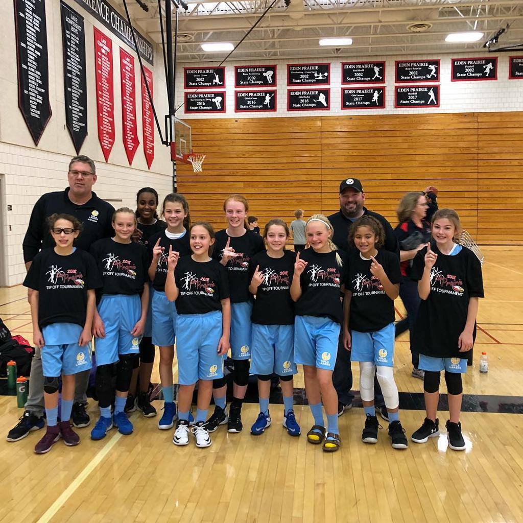 Girls 7th Grade Gold take 1st Place at Eden Prairie Tip-Off