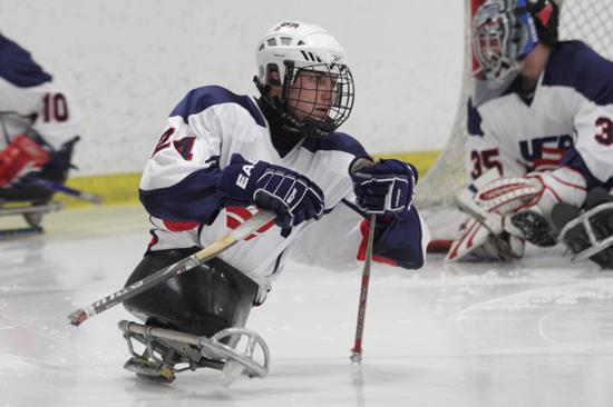 Brody Roybal on the ice