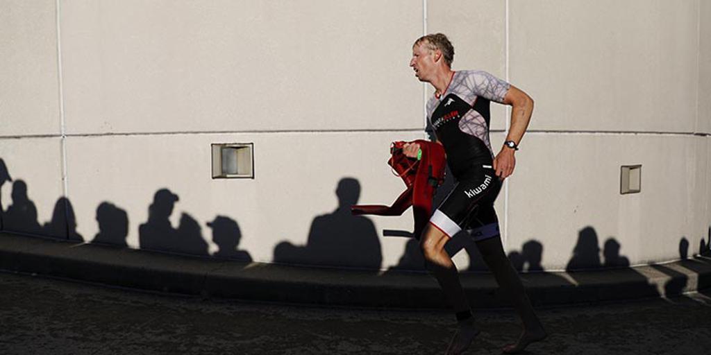 Triathlete running
