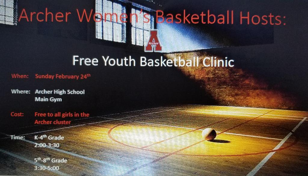 Free Girls Basketball Clinic