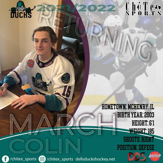 Ducks Veteran Dman Returns to the Flock, Please Welcome Back Colin March!!!