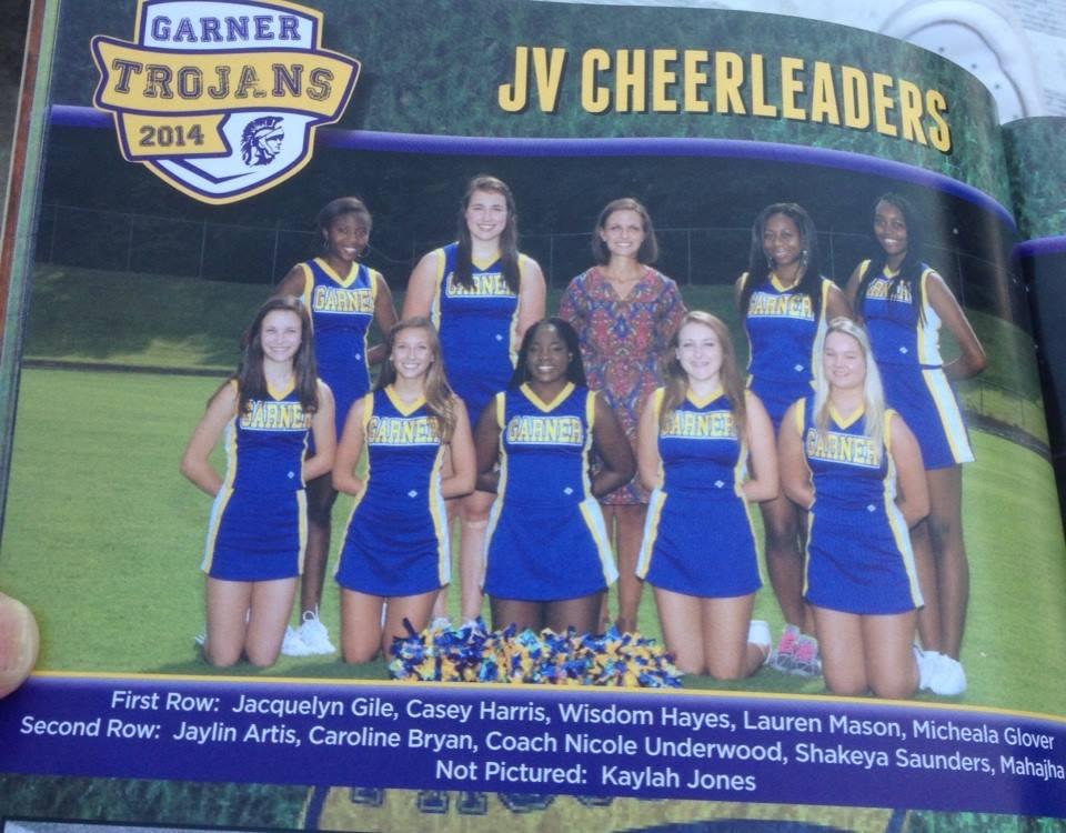 garner jv cheerleading team photo