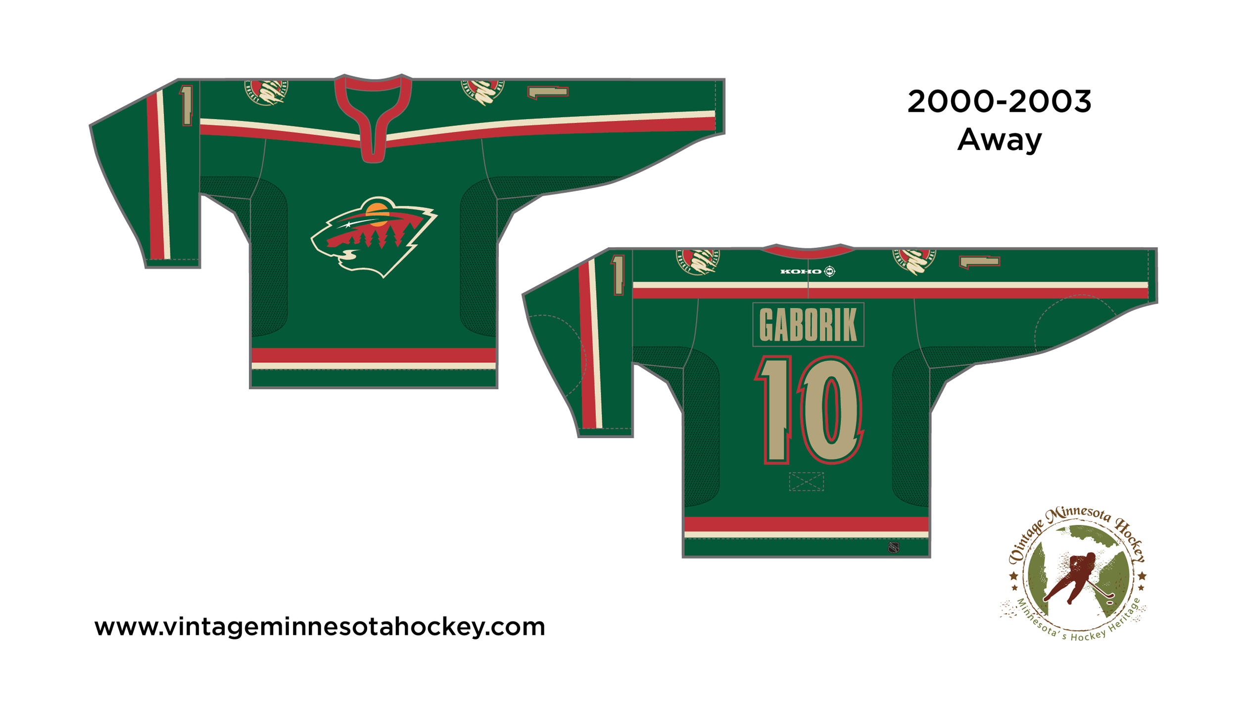 size 40 8f011 16083 Minnesota Wild Uniform Evolution (2000-Present)