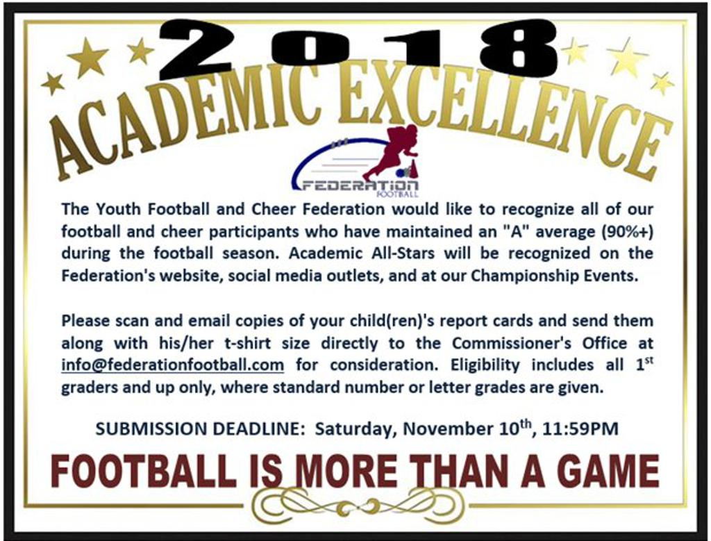 2018 YFF ACADEMIC EXCELLENCE AWARDS