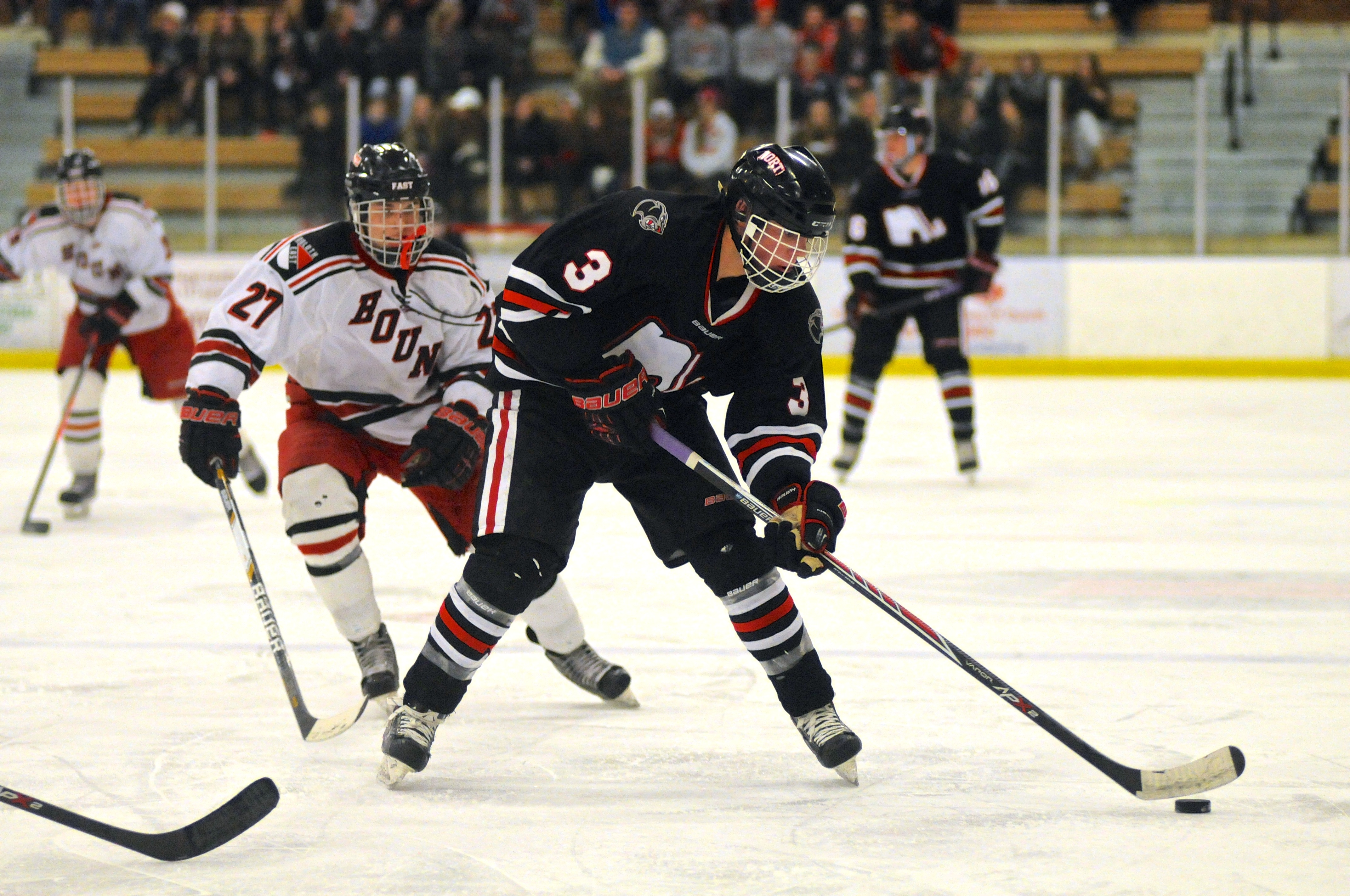 Lakeville North junior Jack Poehling tallied both a goal and an assist for the Panthers.  Photo:  Matt Christians