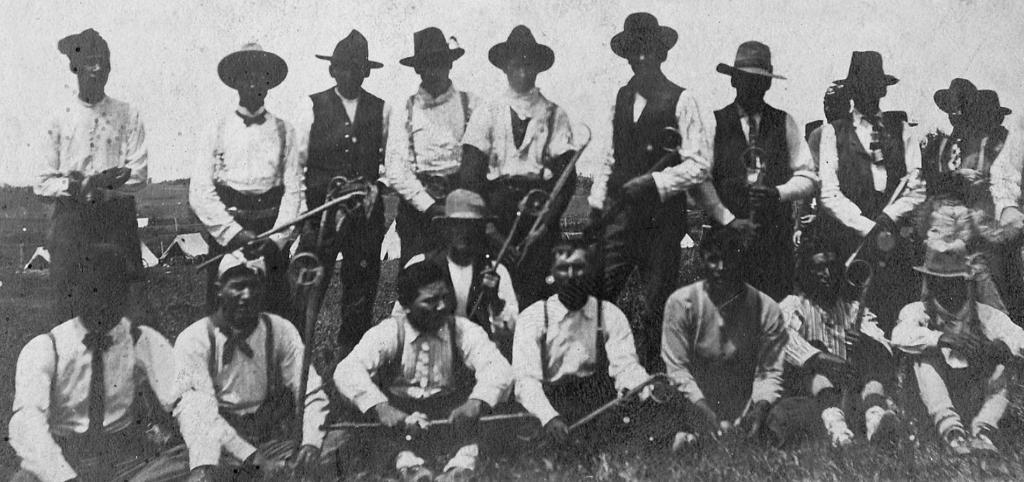White Earth Pow Wow Lacrosse Game 1910