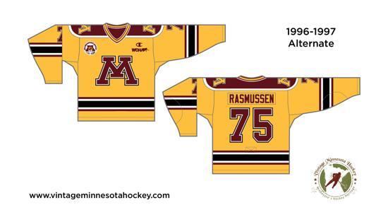 Sports Mem, Cards & Fan Shop 2000s University Of Minnesota Gophers Nike Team Hockey Jersey Championship Year