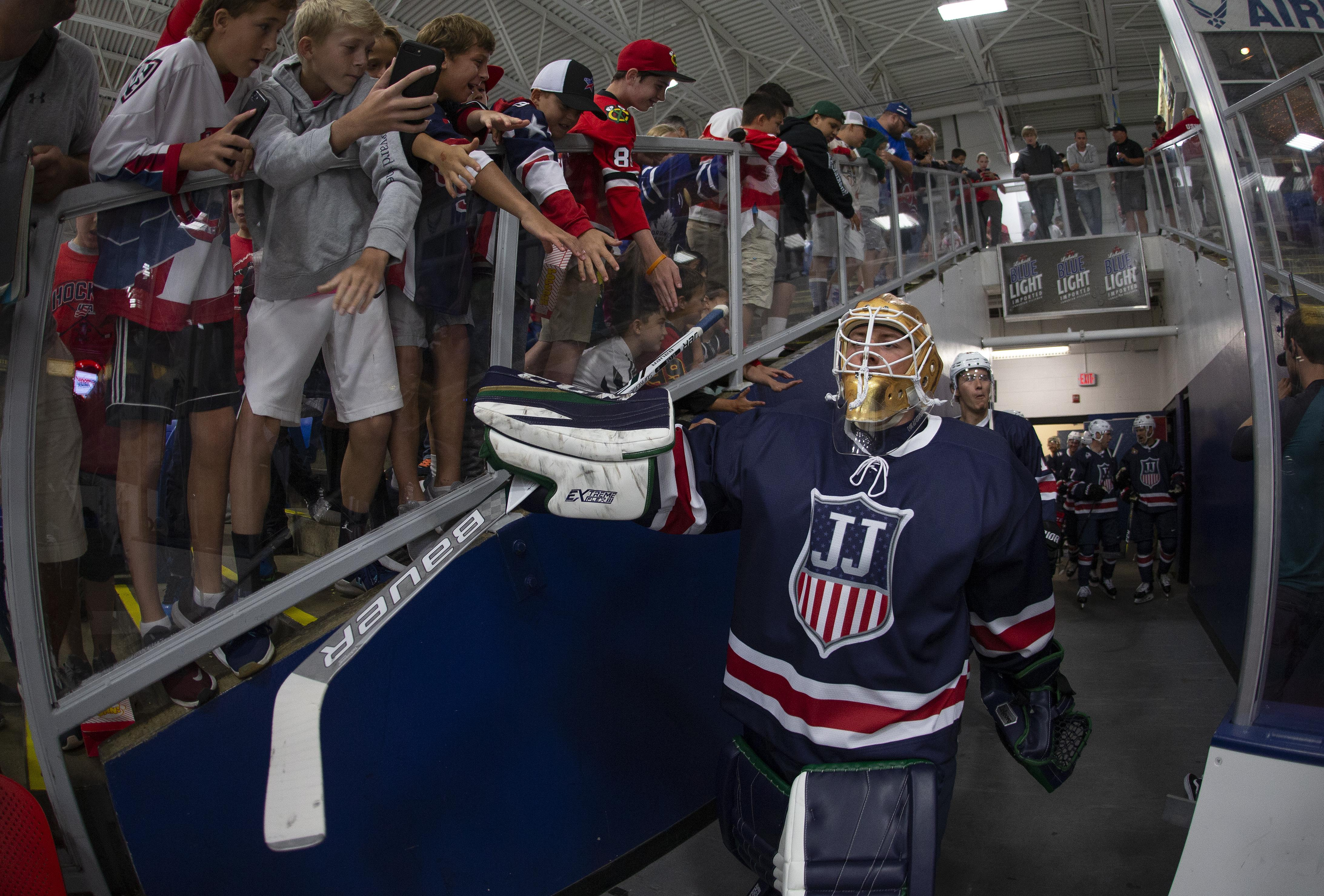 St. Cyr at the Stars and Stripes Showdown at USA Hockey Arena (photo by Rena Laverty)