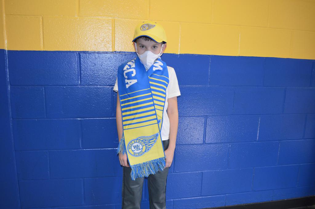 Wings Scarf- $15, Wings Hat $12