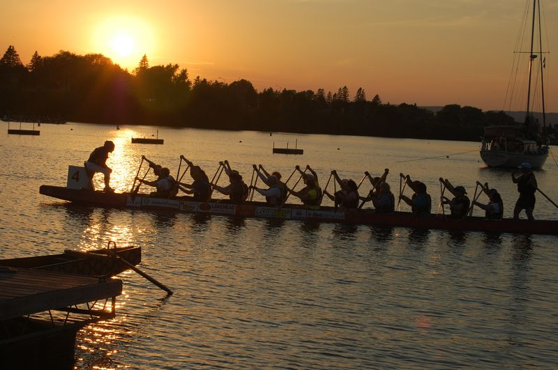 Dragon Boat Sunset
