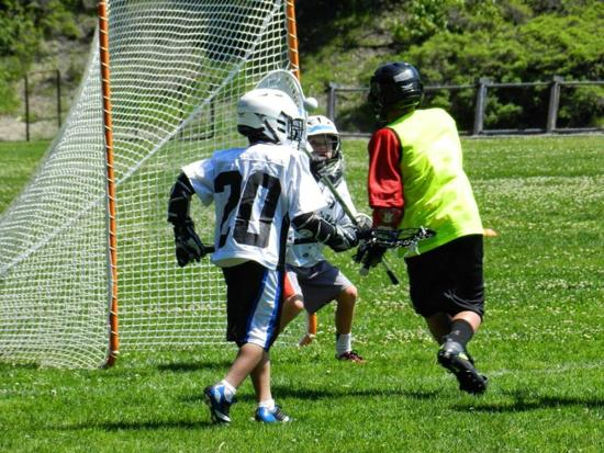 Spring 2014 YMCA Lacrosse in action