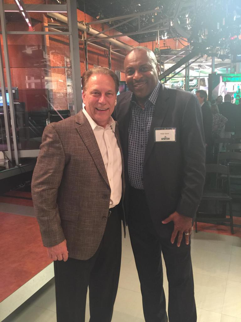 Coach Pete Davis with MSU HOF Head Basketball Coach Tom Izzo