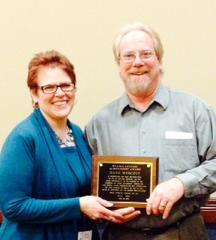 Nancy Hacker presents Dave Wescott with Lifetime Achievement Award April 24th, 2014