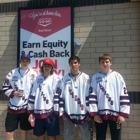 Ice Dogs at Co-Op grand opening