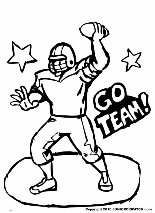 Football Coloring Pages Nfl Players
