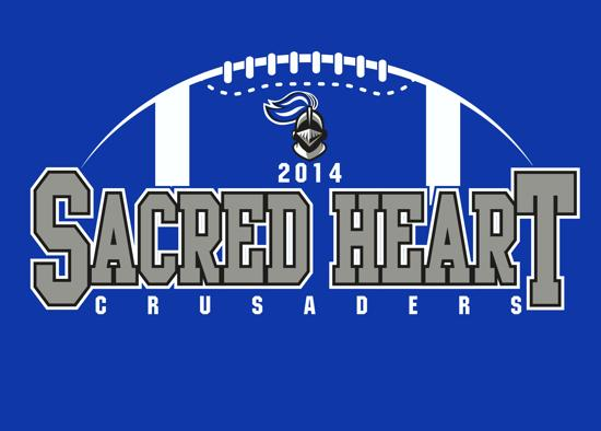Sacred heart youth football for Youth football t shirt designs
