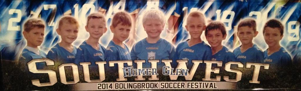 SWSC U9 Bolingbrook Soccer Festival Tournament 1st place champs! - Fall 2014