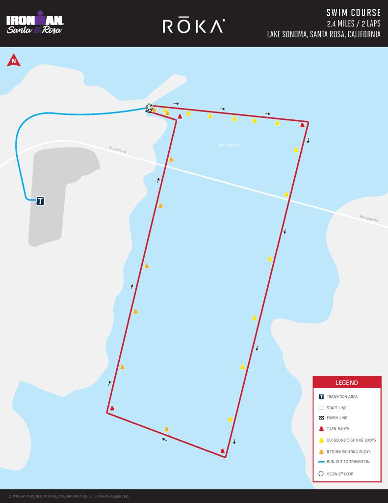 Swim Course Map IM Santa Rosa