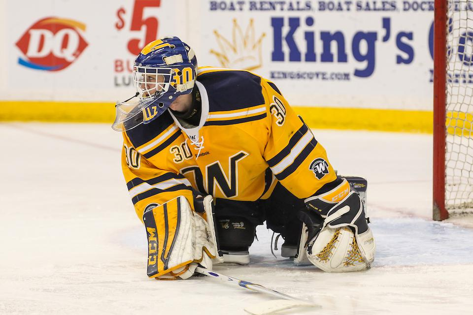 Before becoming a cadet at Air Force, Alex Schilling had a stint with the Tier II Austin Bruins after starting in goal for Wayzata High School, near Minneapolis, Minn. Photo by Mark Hvidsten, SportsEngine