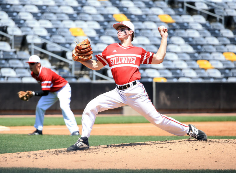Stillwater's Drew Gilbert, a 5-foot-11 left-hander, finished his illustrious prep sports career as the recipient of the 2019 Mr. Baseball Award. Photo by Cheryl Myers, SportsEngine