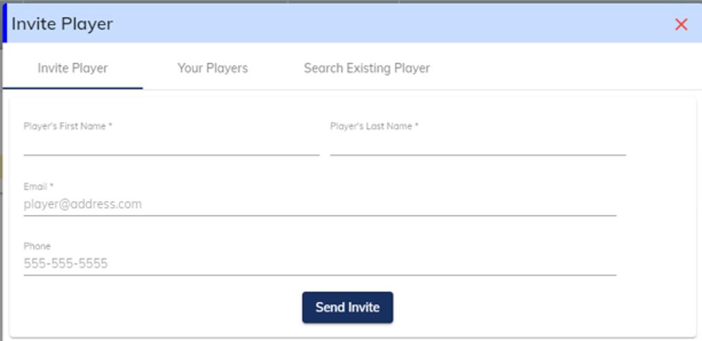 Invite Player Dialog Box