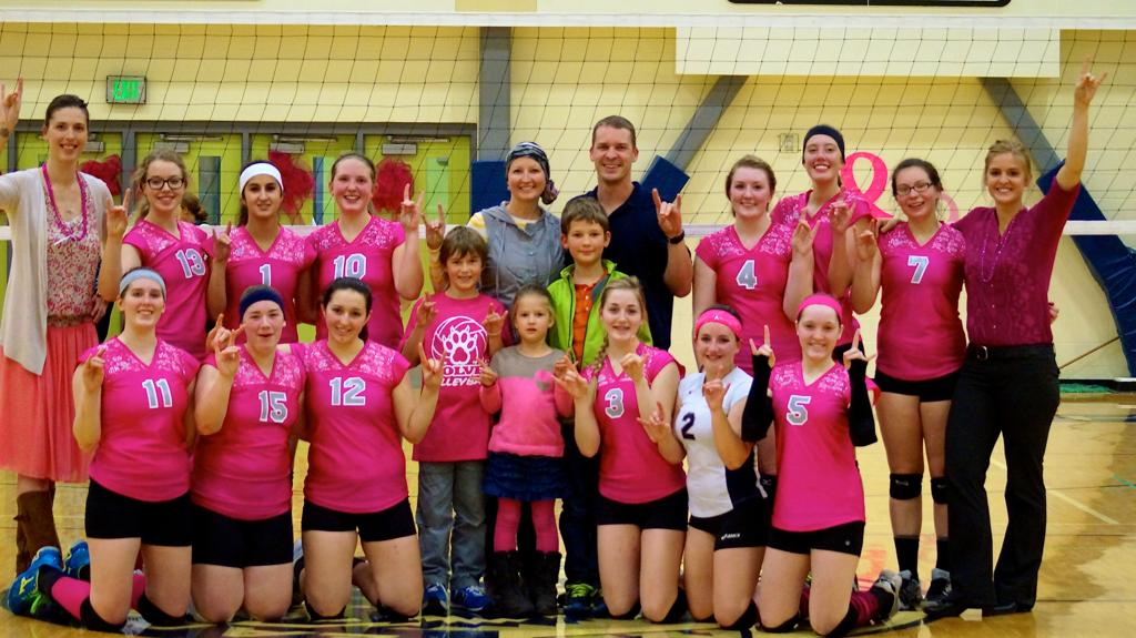 Eagle River volleyball team honors Venning's valor in fight