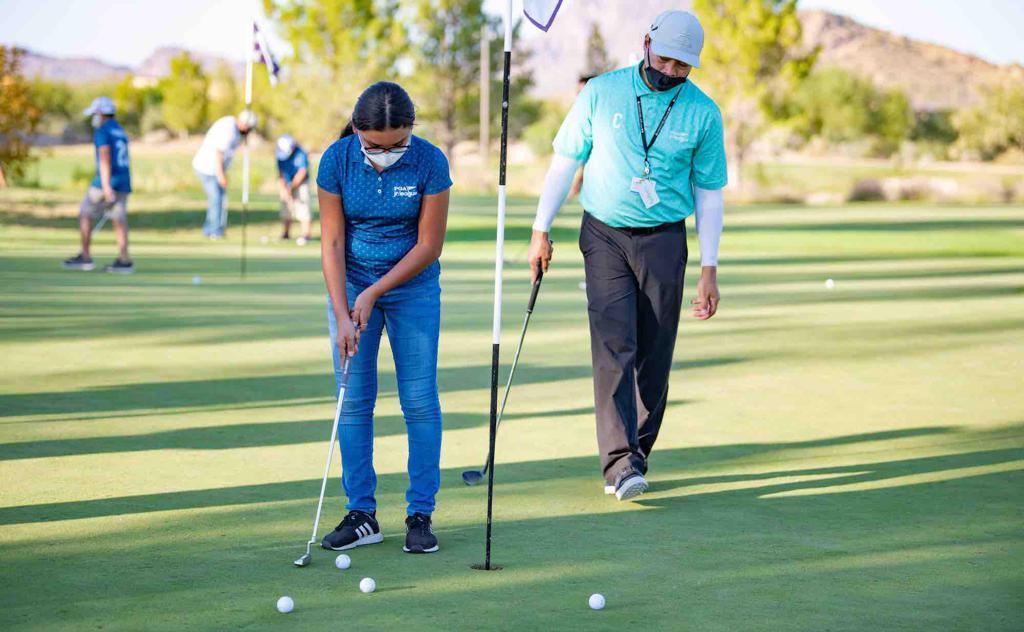 Sewailo Golf Club PGA Jr. League practice, courtesy of Sandoval Creative