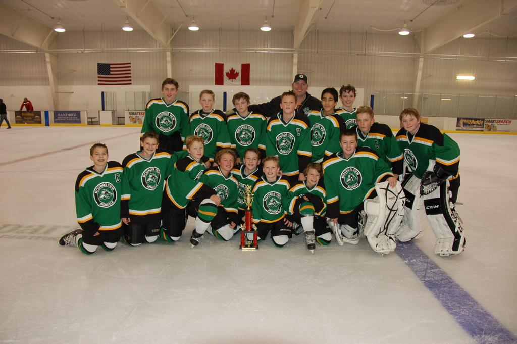 Peewee A 3rd place finish in Fargo