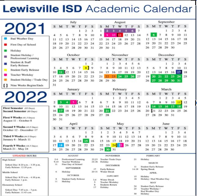 2021 Full Calendar