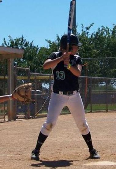 Brooke Aldrich hits a home run to Pasco-Hernando