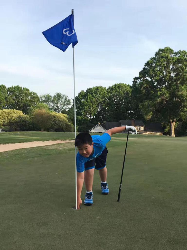 10-year-old Kevin Zhang, who only just started playing golf last fall, carded his first ace during his first PGA Jr. League match at Bermuda Run Country Club! Kevin aced Hole No. 3 from 85 yards with a pitching wedge.