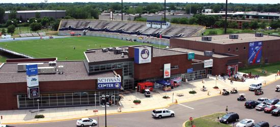 Aerial view of Schwan Center