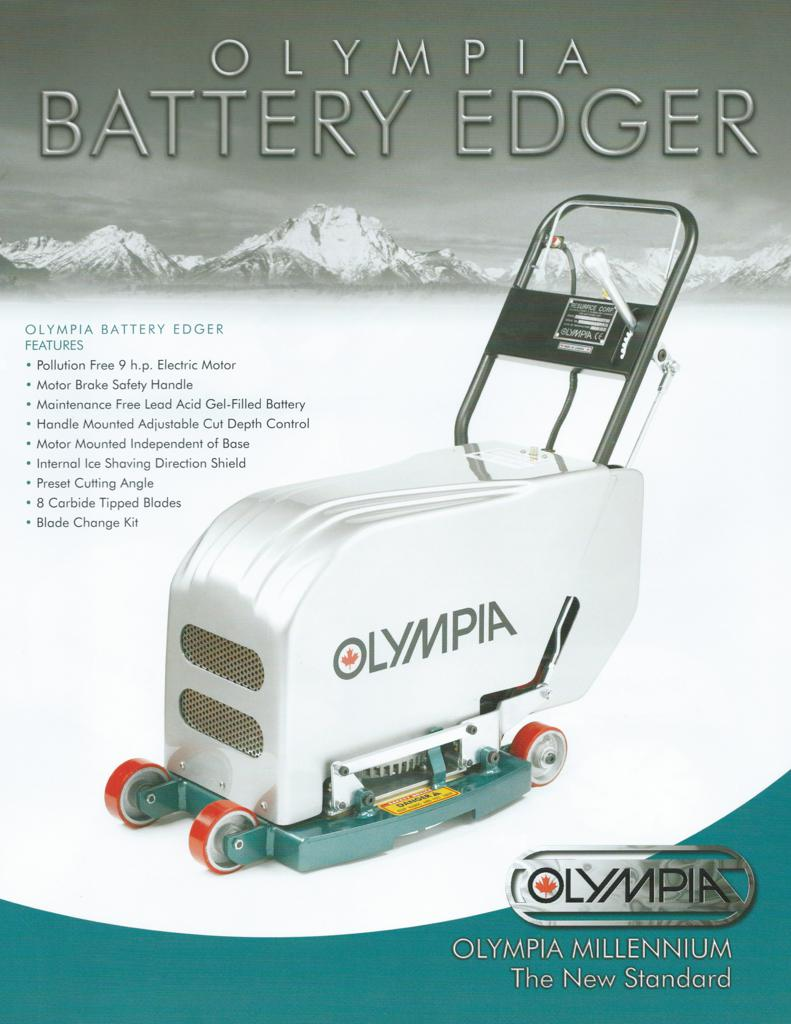 Click here to view specifications for Olympia Battery Edger