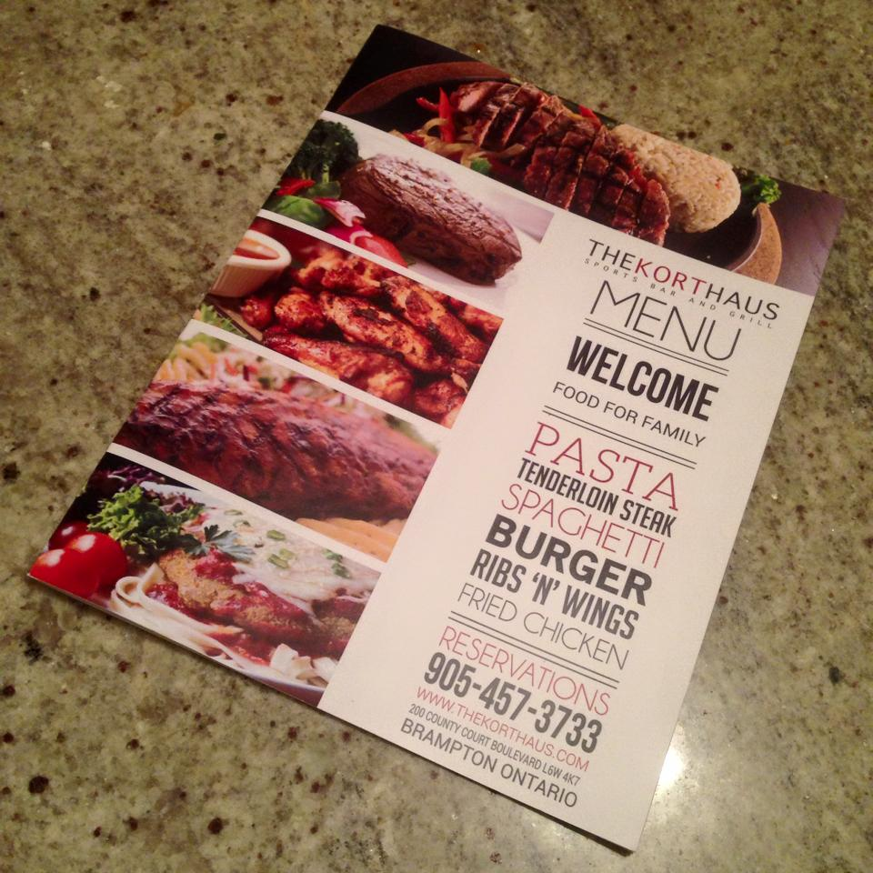 The Kort Haus Sports Bar And Grill Brampton Ontario Brampton Restaurant